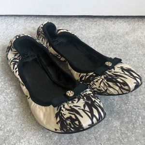 Tory Burch Satin Clancy Ballet Flats